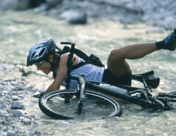 転倒自転車